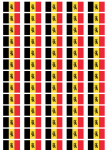Belgium State Flag Stickers - 65 per sheet